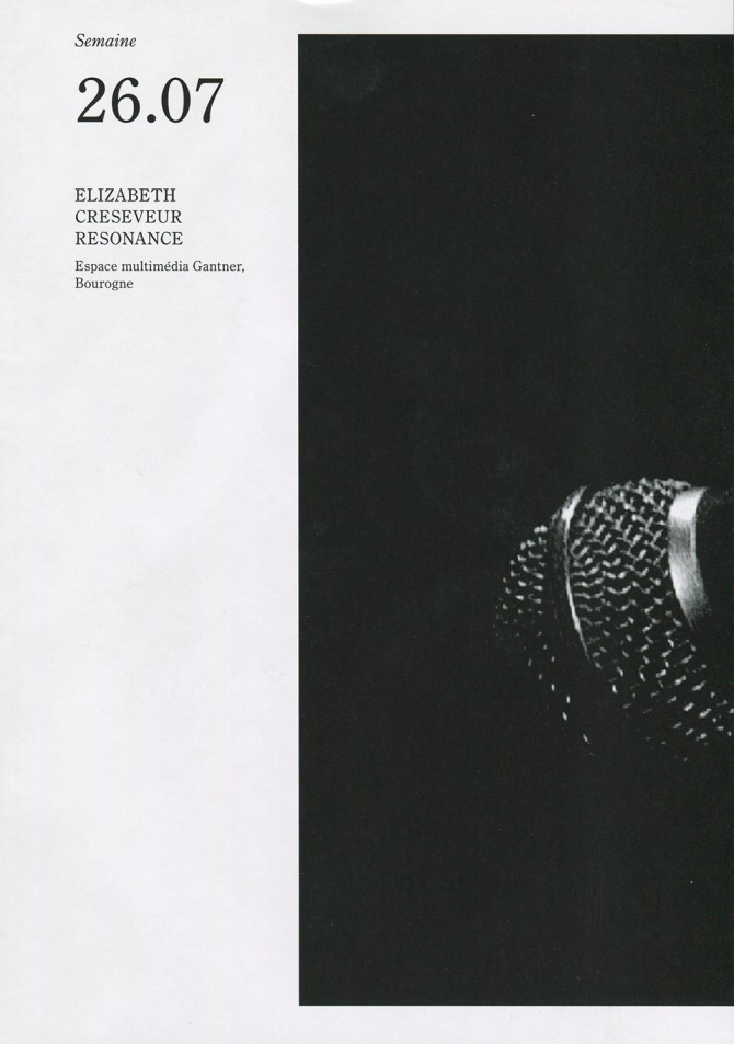 semaine 26.07 - Elisabeth Creseveur - Resonance