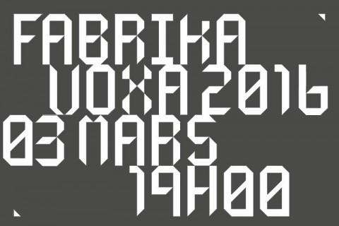 affiche frabrika voxa 2016