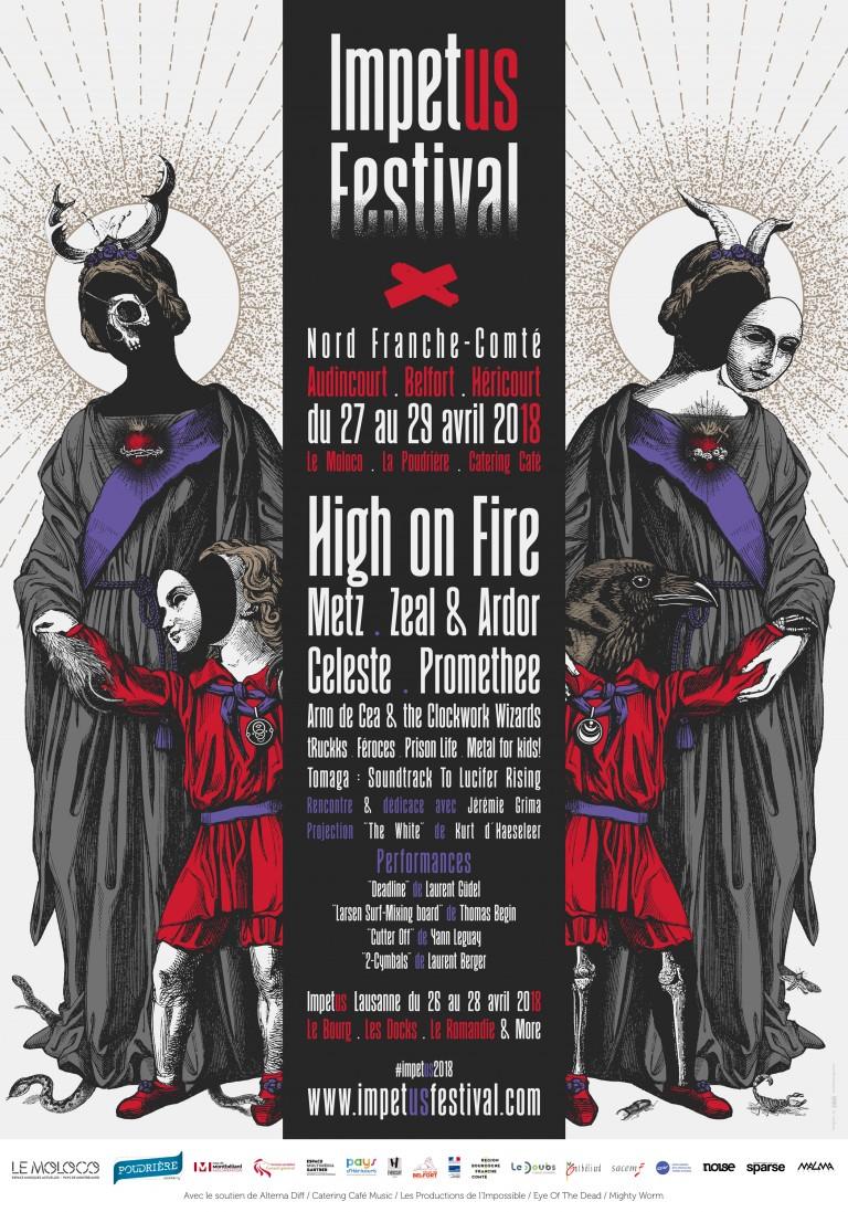 Affiche Festival impetus 2018